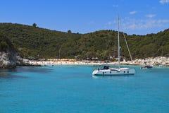 Antipaxos海岛在希腊 免版税库存图片
