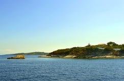 Antipaxos爱奥尼亚海的希腊海岛 免版税库存照片