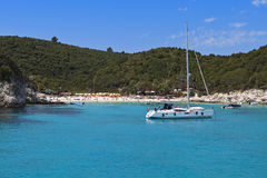 Antipaxos island in Greece Royalty Free Stock Images