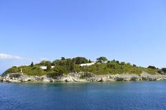 Antipaxos un'isola greca nel mare ionico fotografia stock libera da diritti