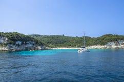 Antipaxos wyspy Turkusowy morze - Ionian morze †'Grecja - Fotografia Stock