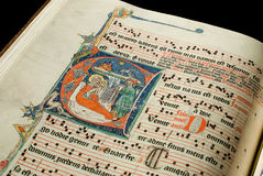 Antiphonary stock photo