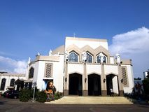 Antipolo Cathedral or the Our Lady of Peaceful and Safe Voyage Cathedral. ANTIPOLO CITY, PHILIPPINES - APRIL 18, 2017: Antipolo Cathedral or the Our Lady of royalty free stock photo