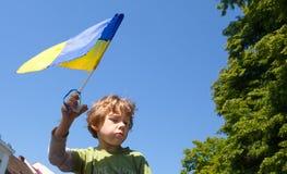 Antiputin-vergadering tot steun van Ukraines-eenheid Royalty-vrije Stock Foto's
