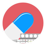 Antipyretics medication vector icon Royalty Free Stock Images