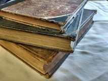 Antiquarian book. Pile of antiquarian books Stock Photography