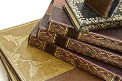 Antiquarian Books. A view of an encyclopedia of old books in good condition Royalty Free Stock Images