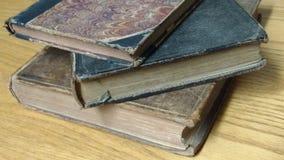 Antiquarian Books. Pile of 3 antiquarian books Royalty Free Stock Photo