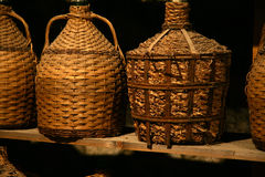 Antiquarian bottles with wine. Stock Photography