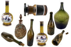 Antiquarian glass bottle Stock Image
