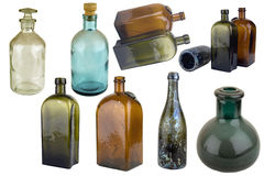 Antiquarian glass bottle Stock Images