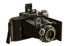 Antiquarian medium format camera Royalty Free Stock Photo