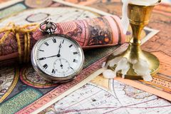 Antiquarian pocket watch Royalty Free Stock Image