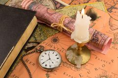 Antiquarian pocket watch Stock Images