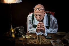 The antiquarian`s portrait Royalty Free Stock Image
