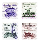 Antiquarian vehicles Royalty Free Stock Photos