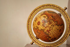 Antiquated explorer's globe Stock Photo