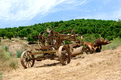 Antiquated farming equipment Stock Image