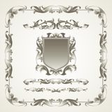 Antiquated ornate patterns. Vector illustration Royalty Free Stock Photos