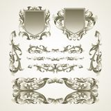 Antiquated ornate patterns. Vector illustration Stock Photos