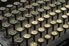 Antiquated typewriter Stock Photo