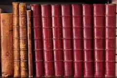 antique записывает кожаный рядок Стоковая Фотография