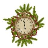 antique разветвляет сторона часов Стоковые Фотографии RF