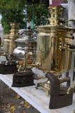 antique утюживет samovars Стоковое фото RF