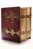 красный цвет книги antique темный старый Стоковое Фото