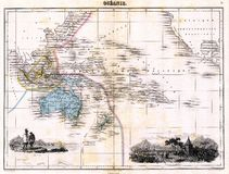 Antique 1870 Map of Austalia Stock Image