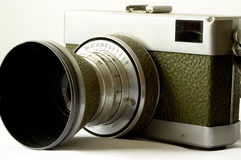 Antique 35mm camera. Old german camera Stock Image