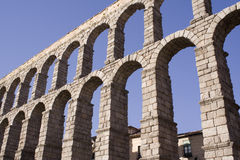 Antique. Segovia aqueduct,Spain royalty free stock images
