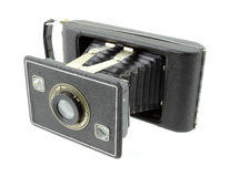 Antique 620 format film folding camera Royalty Free Stock Images