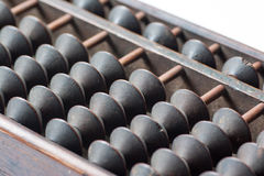 Antique abacus. Japanese antique abacus with five beads Royalty Free Stock Photography