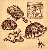 Antique accessories Stock Images