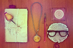 Antique accessories for writing. Royalty Free Stock Photos