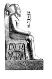 Antique Aegypt , engraving middle '800 Stock Photography