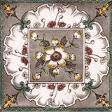 Antique Aesthetic design tile. An Aesthetic period original tile dating around 1880 with hand colored design Royalty Free Stock Photography
