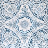 Antique Aesthetic design tile. An Aesthetic period original tile dating around 1880 with floral design Stock Photos