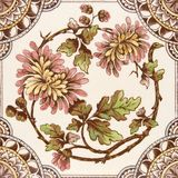 Antique Aesthetic Period Tile Royalty Free Stock Photography