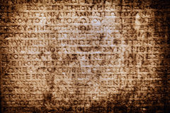 Antique Age Epigraph Wall Royalty Free Stock Photography