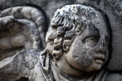 Antique age Marble Face and Body Statue Stock Image