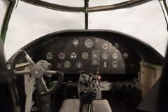 Antique airplane cockpit Stock Image