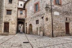 Antique alley in Spoleto, Umbria, Italy Stock Photos