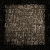 Antique Alphabet Background royalty free stock photos