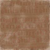 Antique Alphabet Background Royalty Free Stock Images