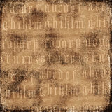 Antique Alphabet Background. A rich, textural background for scrapbooking and design, 12x12 inches in size Royalty Free Stock Image