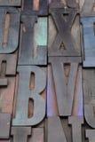 Antique alphabet letters Stock Images
