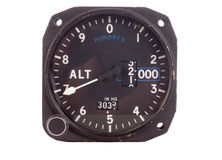Antique Altimeter Stock Image