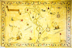 America. Antique america map - close up Royalty Free Stock Photography